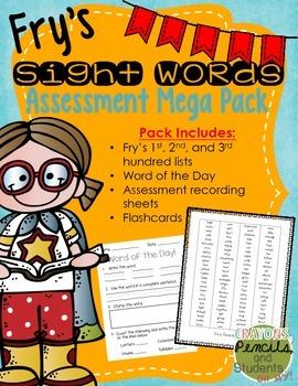 Fry Sight Word Assessment Mega Pack