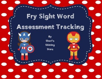 Fry Sight Word Assessment Tracking Tool 1-100