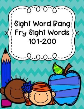 Fry Sight Word BANG!