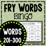 Fry Sight Word BINGO (Words 201-300) Editable