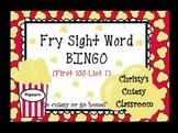 Fry Sight Word Bingo--1st 100 Words List 1