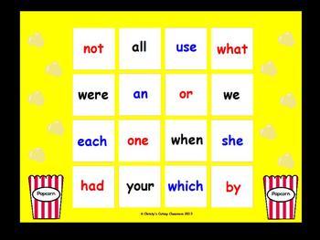Fry Sight Word Bingo--1st 100 Words (List 2)