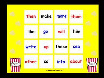 Fry Sight Word Bingo--1st 100 Words (List 3)