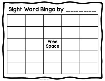 Fry Sight Word Bingo | First 100