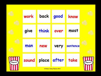 Fry Sight Word Bingo--Second 100 (List 1)