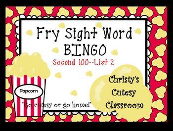 Fry Sight Word Bingo--Second 100 (List 2)