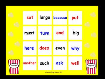 Fry Sight Word Bingo--Second 100 (List 3)