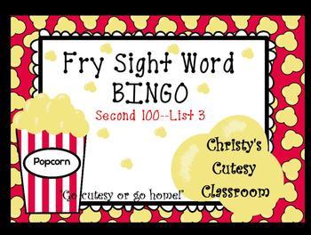 Fry Sight Word Bingo--Second 100 (List 3)