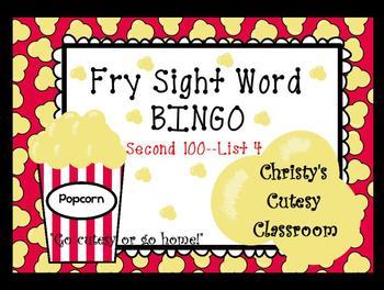 Fry Sight Word Bingo--Second 100 (List 4)