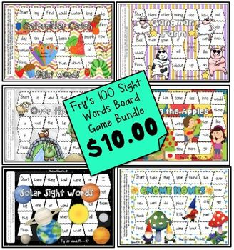 Fry Sight Word Board Games *BUNDLE*