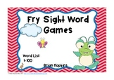 Fry Sight Word Board Games - No Prep 100 Word List