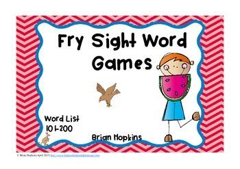 Fry Sight Word Board Games - No Prep 200 Word List