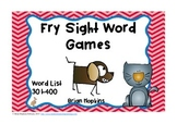 Fry Sight Word Board Games - No Prep 400 Word List