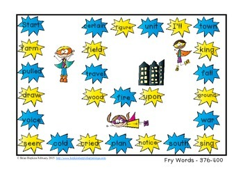 Fry Sight Word Board Games - No Prep 400 Word List