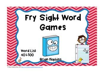 Fry Sight Word Board Games - No Prep  500 Word List
