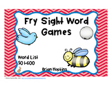 Fry Sight Word Board Games - No Prep  600 Word List