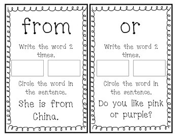 Fry Sight Word Book (Words 21-40)