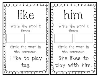 Fry Sight Word Book (Words 61-80)