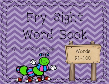 Fry Sight Word Book (Words 81-100)