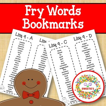 Fry Sight Word Bookmarks - 1 to 1000 - Christmas