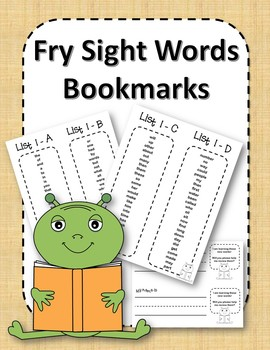 Fry Sight Word Bookmarks - 1 to 1000 - Space