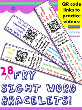 Fry Sight Word Homework {Bracelets with QR codes}