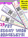 Fry Sight Word Homework {Bracelets with QR codes}