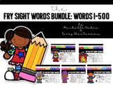 Sight Word Bundle Pack: Fry Words 1-500