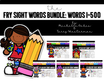 Fry Sight Word Bundle Pack: Words 1-500