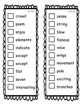 Fry Sight Word Check Book 801-900