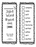 Fry Sight Word Check Book 901-1000
