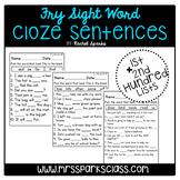 Fry Sight Word Cloze Sentences (1st & 2nd Hundred Lists)