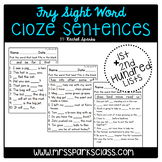 Fry Sight Word Cloze Sentences (1st & 2nd Hundred Lists)