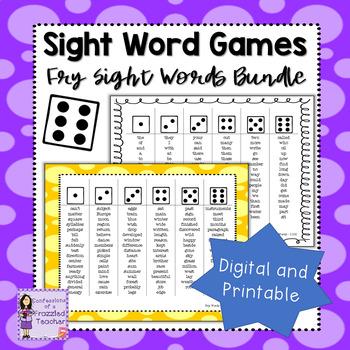 Fry Sight Word Dice Games Bundle - Words 1-1000