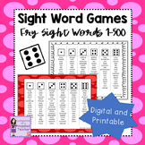 Fry Sight Word Dice Games - Words 1-500