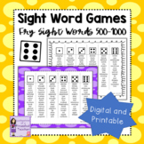 Fry Sight Word   Sight Word Games   Words 501-1000