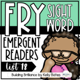 Fry Sight Word Emergent Readers {List EIGHTEEN}