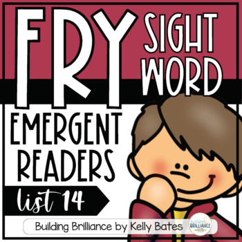 Fry Sight Word Emergent Readers {List FOURTEEN}