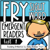 Fry Sight Word Emergent Readers List One