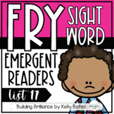 Fry Sight Word Emergent Readers {List SEVENTEEN}