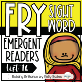 Fry Sight Word Emergent Readers {List SIXTEEN}