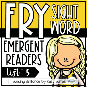 Fry Sight Word Emergent Readers {List FIVE}