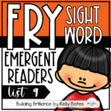 Fry Sight Word Emergent Readers {List NINE}