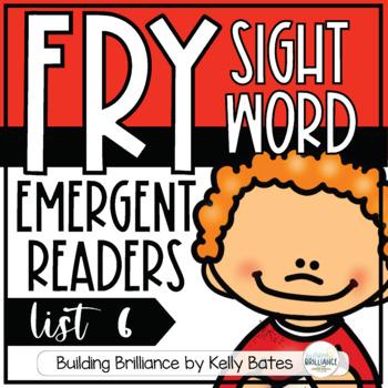 Fry Sight Word Emergent Readers {List SIX}