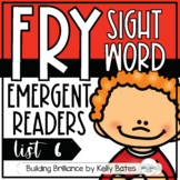 Fry Sight Word Emergent Readers {List SIX}