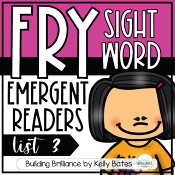Fry Sight Word Emergent Readers {List THREE}