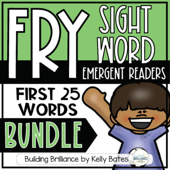 Fry Sight Word Emergent Readers {THE FIRST 25 WORDS BUNDLE}