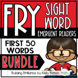Fry Sight Word Emergent Readers {THE FIRST 50 WORDS MEGA BUNDLE}