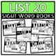 Fry Sight Word Emergent Readers {THE FOURTH 25 WORDS BUNDLE}