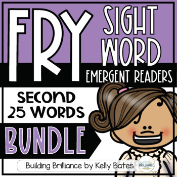 Fry Sight Word Emergent Readers {THE SECOND 25 WORDS BUNDLE}